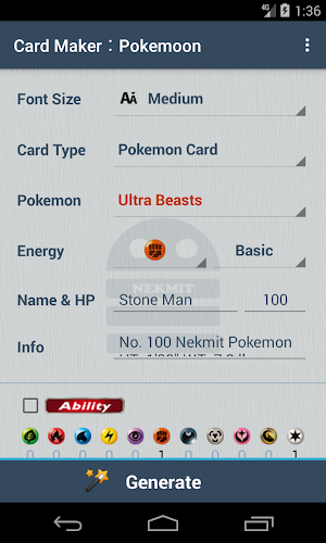 Card Maker︰Pokemoon 1 4 4 APK Download - Android