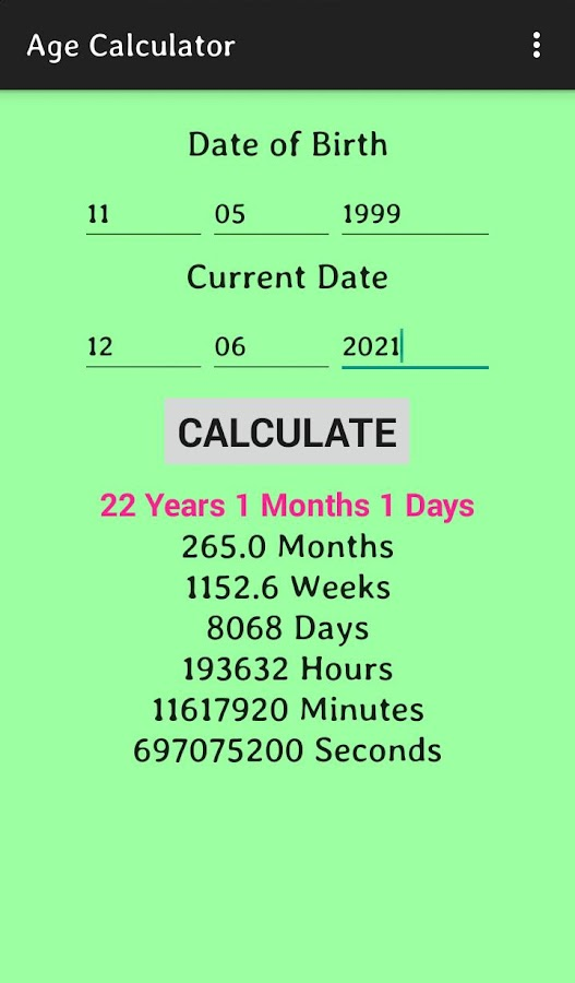 Age Calculator 1 0 1 APK Download - Android Tools Apps