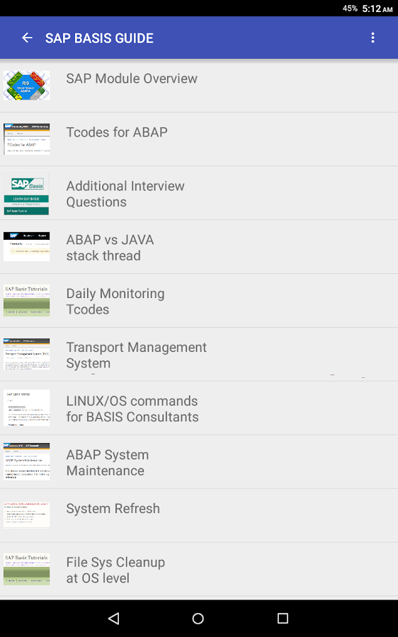 SAP BASIS GUIDE 2 0 APK Download - Android Education Apps