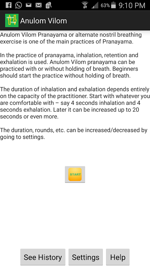 Anulom Vilom Yoga Breathing 8 APK Download - Android Health