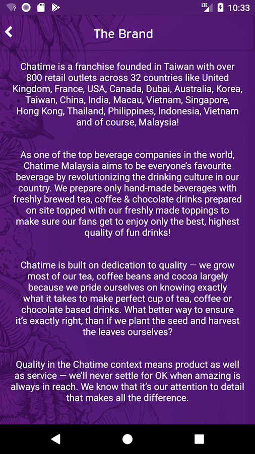 Chatime Malaysia APK Download - Android cats food_drink Games
