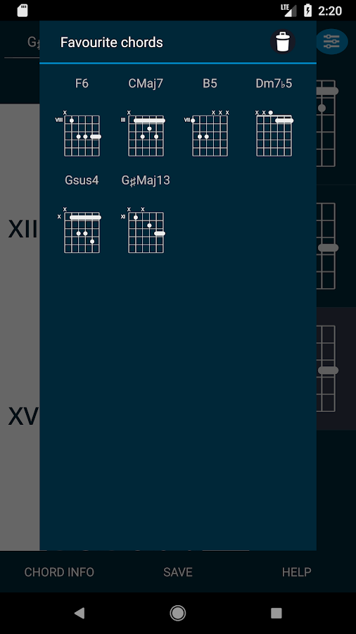 Guitar Chords Database T4A 🎸 2000+ chord charts 2.1.0 APK Download ...