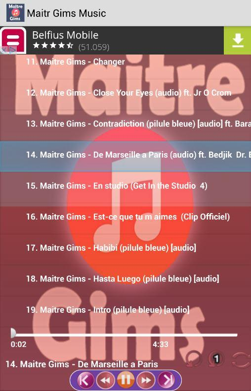 Maitre Gims Music 43 Apk Download Android Music Audio Apps