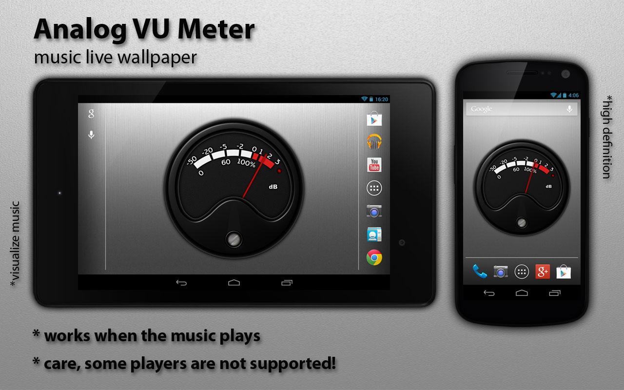 Vu Meter Live Wallpaper 113 Apk Download Android Music Audio Apps Pocket Screenshot 11