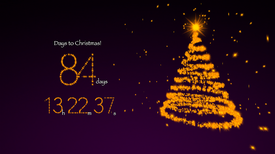 "3D Living Christmas Countdown"" is astunning3D live screensaver ..."