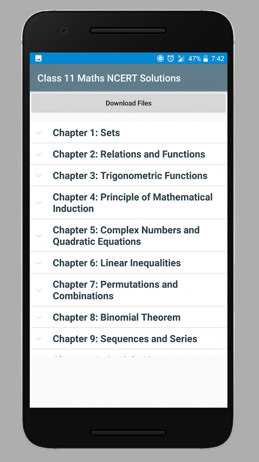 Class 11 Maths NCERT Solutions 1 0 APK Download - Android