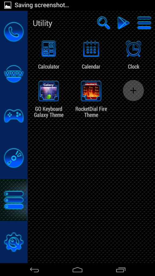 Smart Launcher Blue Neon 1 5 APK Download - Android