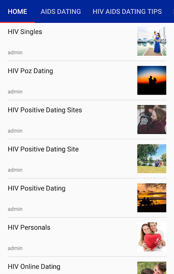 HIV online dating