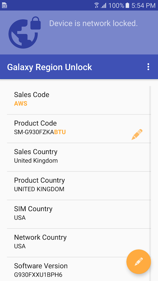 Galaxy S7 Region Unlock 1 0 12 APK Download - Android Tools Apps
