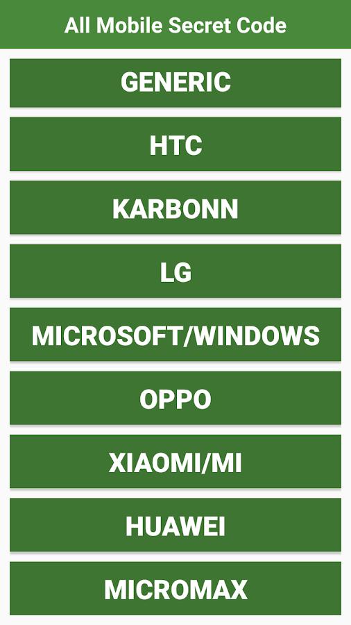 All Mobile Secret Codes 1 1 APK Download - Android Social Apps