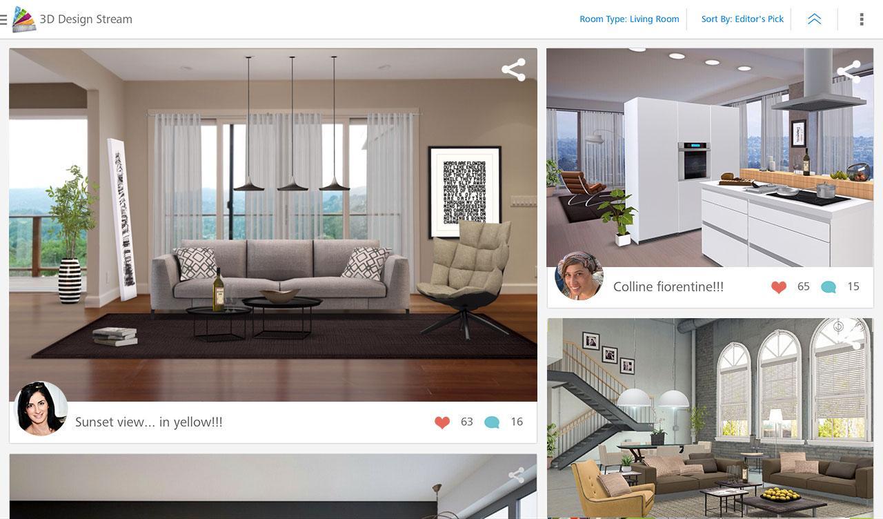 Homestyler interior design 1 4 7 apk download for Room design 3d apk