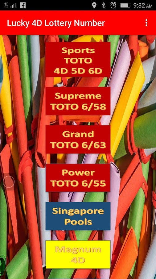 Lucky 4D TOTO MAGNUM Lotto Jackpot Number 6 0 APK Download