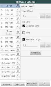 BlindsAreUp! Poker Timer free 2.1 screenshot 4