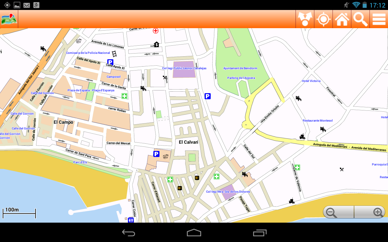 Benidorm Offline mappa Map 113 APK Download Android Travel