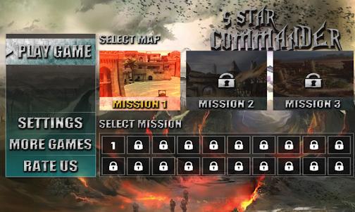 5 Star Commander - FPS Shooter 1.0 screenshot 1