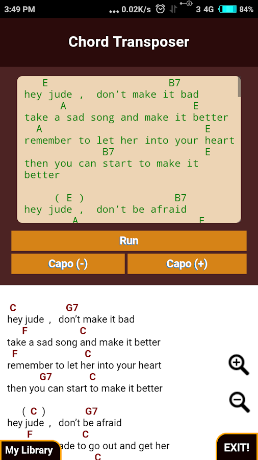 Guitar Chord Transposer Simple 5020180623 Apk Download Android