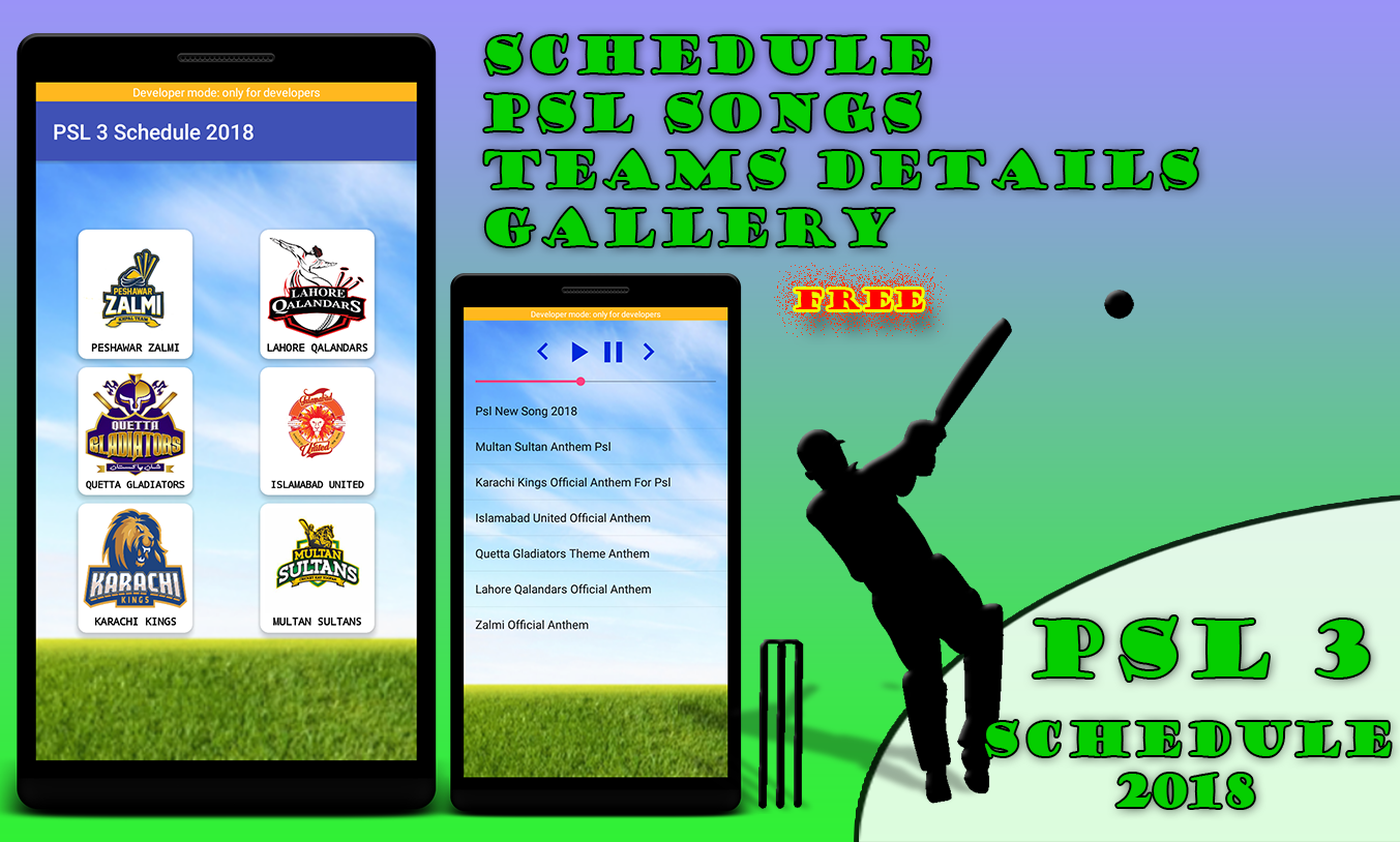PSL 3 Full Schedule 2018 & Songs 1 0 APK Download - Android