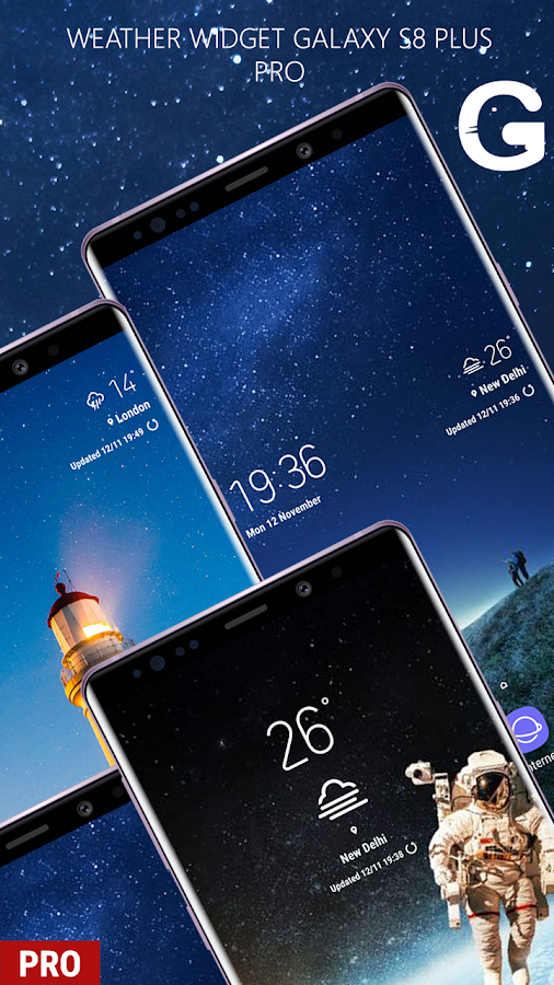 Weather Widget Galaxy S8 Pro S9 - Live Temperature 1 0 2 APK