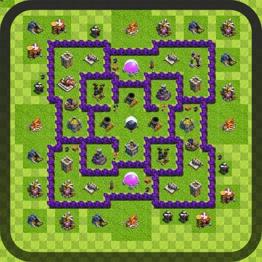Base map for Clash of Clans 1.0 APK Download - Android Tools Apps Clash Of Clan Map on