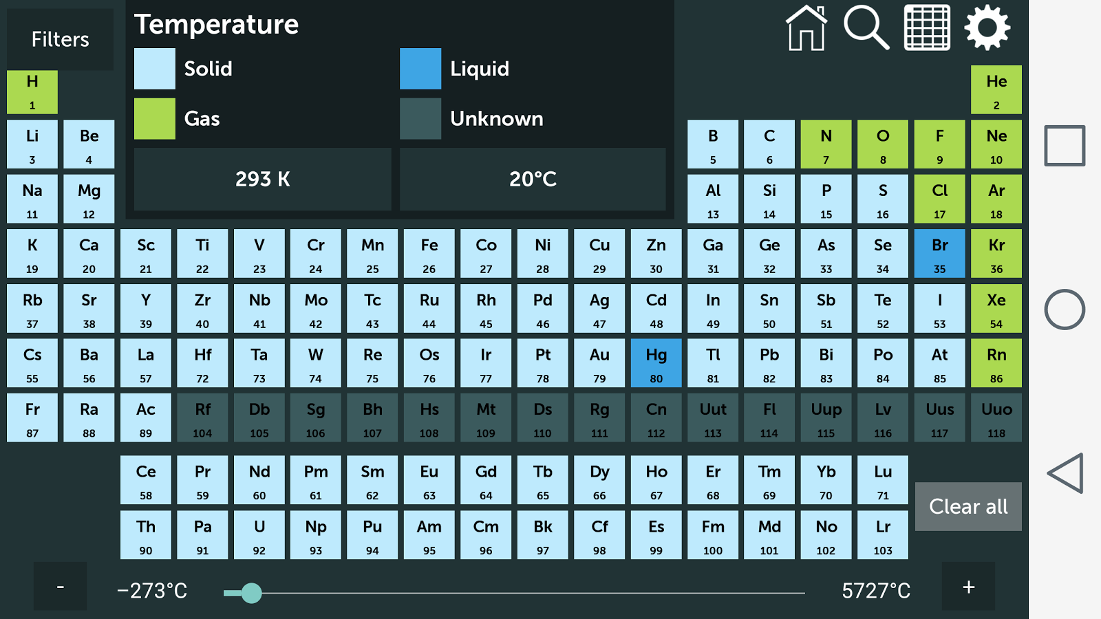Periodic table 140 apk download android education apps periodic table 140 screenshot 3 urtaz Images