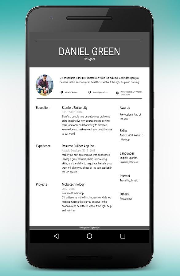 Resume Builder And Cv Maker App 895o Apk Download Android