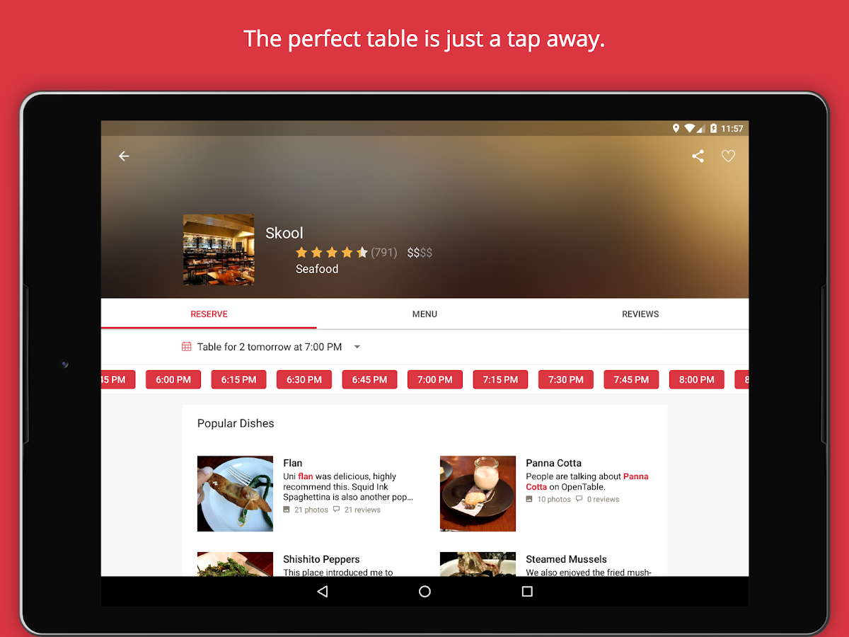 OpenTable Restaurants Near Me APK Download Android - Google open table
