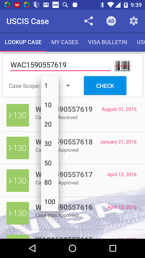 USCIS Case Status 1 8 2 APK Download - Android Tools Apps
