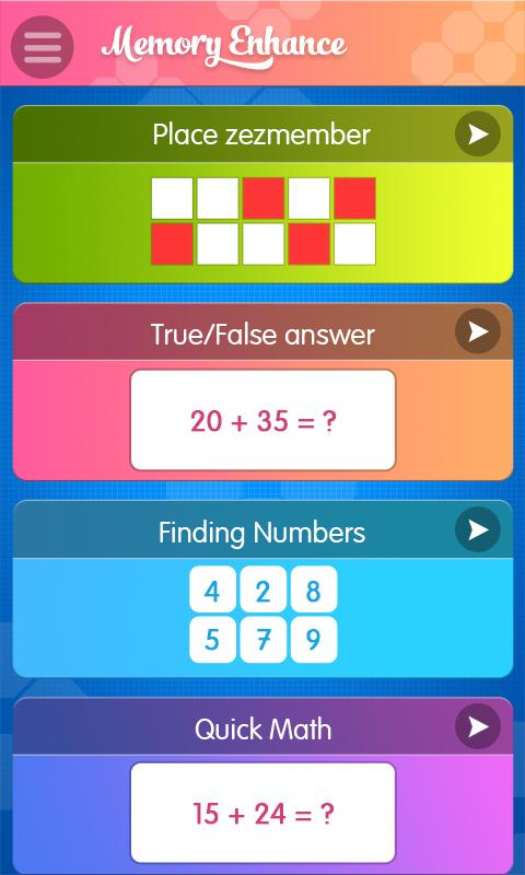 Memory Enhance : Brain Games 1 0 APK Download - Android Educational