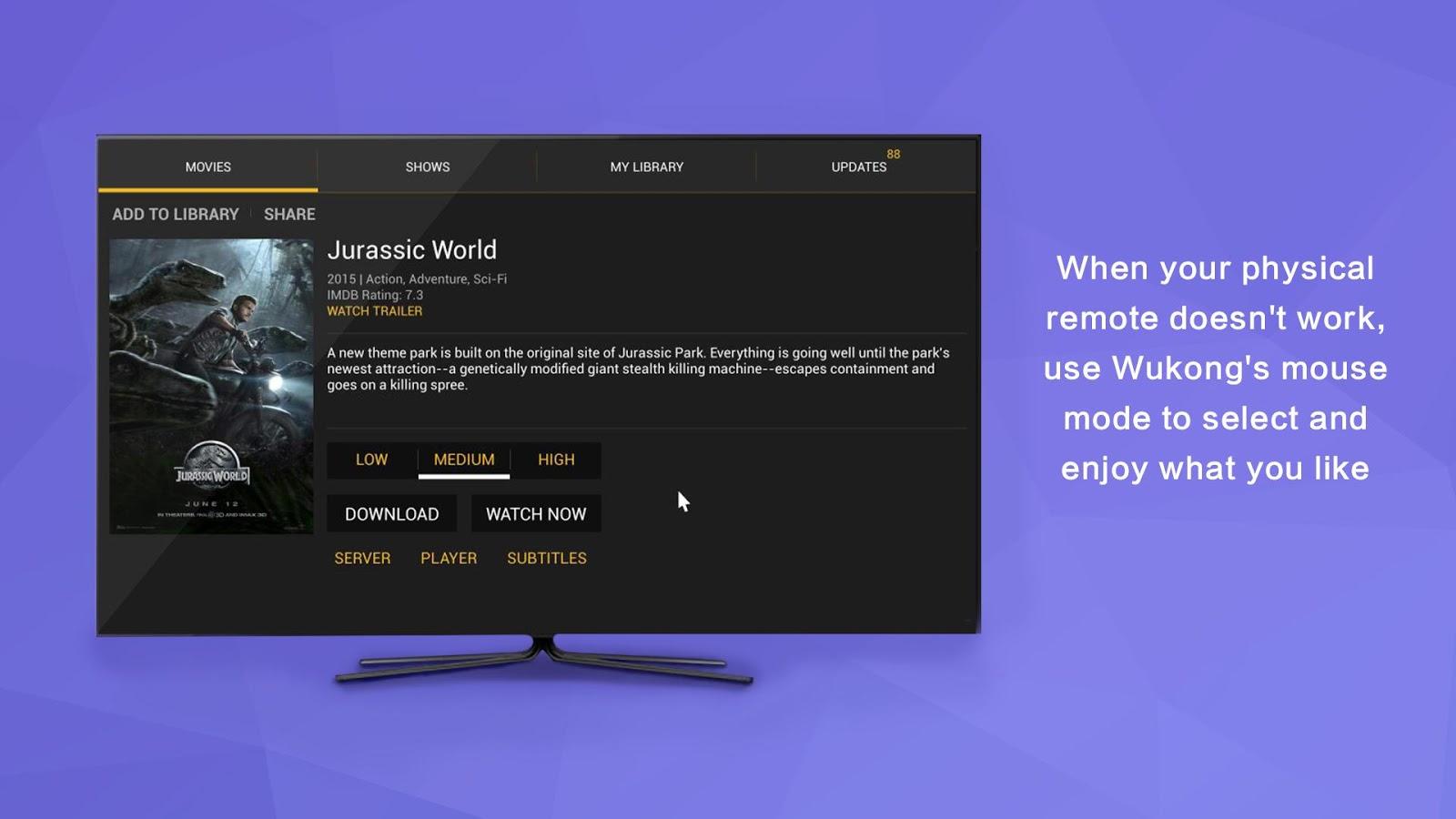 Wukong TV Remote (Kodi Remote) 1 9 0EN APK Download - Android Tools Apps