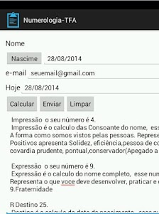 Numerologia-TFA 1.0 screenshot 3