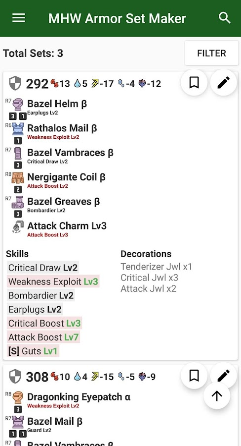 Armor Set Maker - MHW 1 4b APK Download - Android Tools Apps