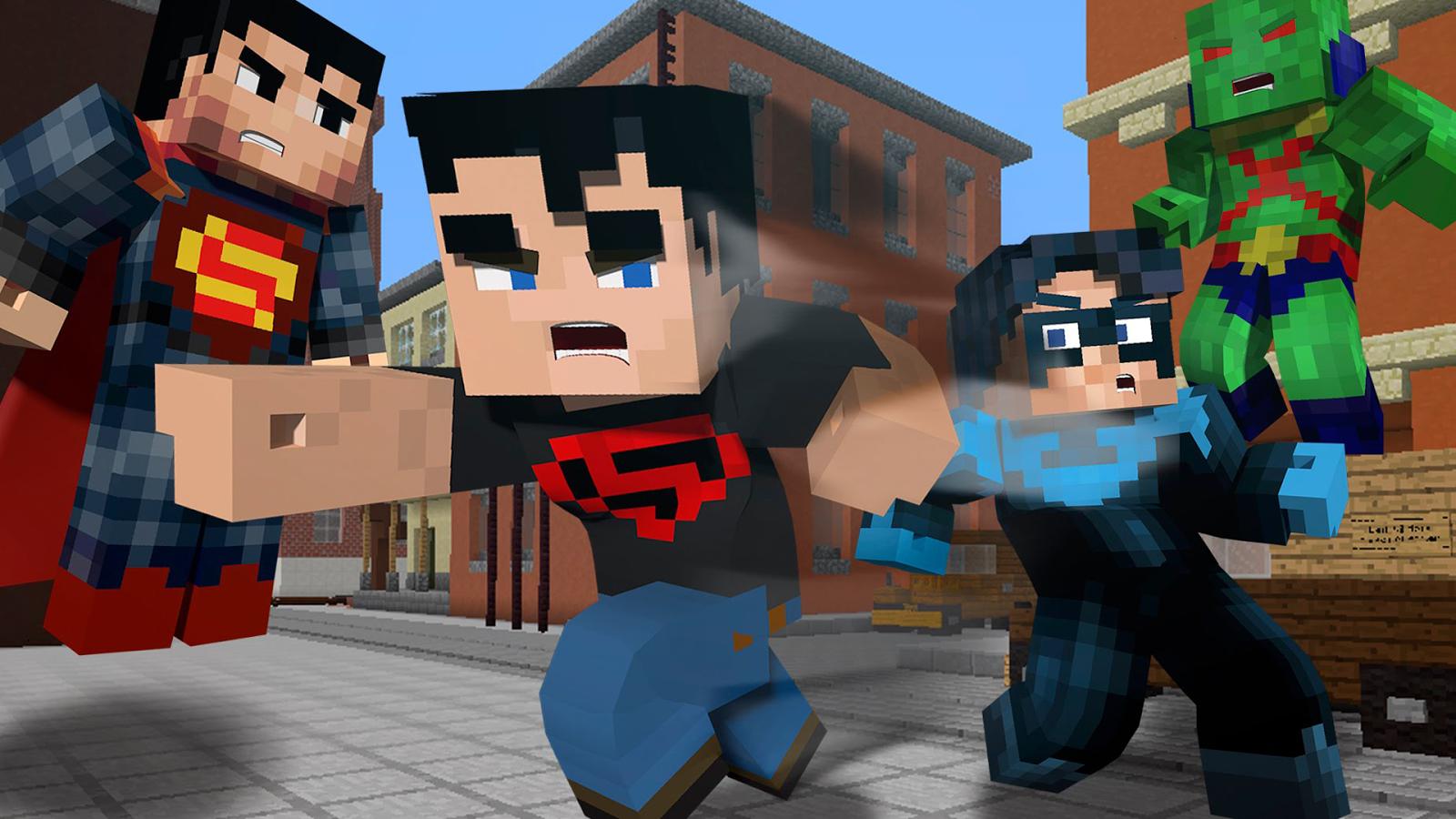 Superhero Minecraft Skins V APK Download Android Books - Minecraft skins fur android