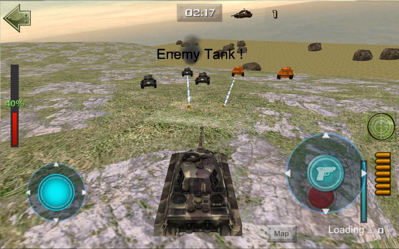 Tank Wars game at DOSGames.com