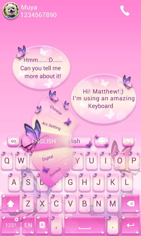 Butterfly GO Keyboard Theme 3 2 APK Download - Android