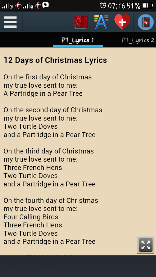 The First Day Of Christmas Lyrics.Christmas Song Best Lyrics 1 1 Apk Download Android