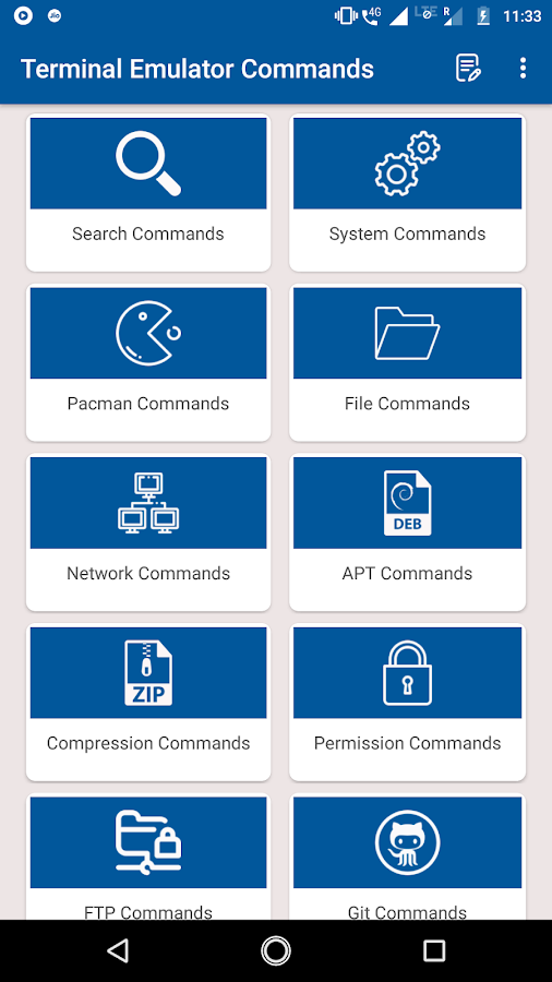 Terminal Emulator Commands 8 APK Download - Android Books