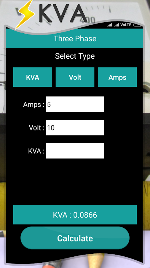 Phase Kva Calculator