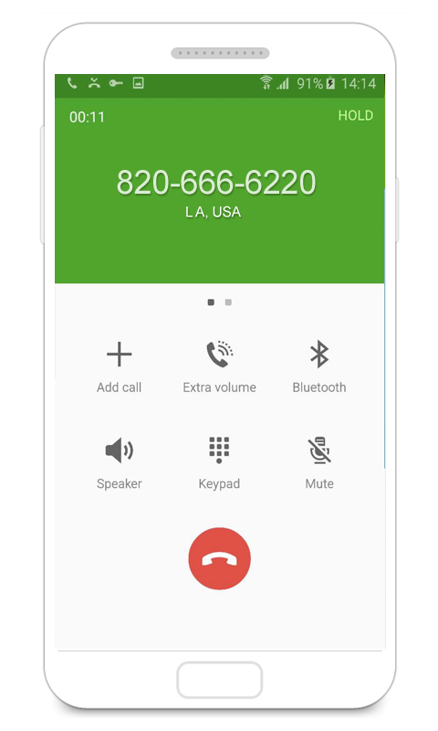 how to make a fake call on android