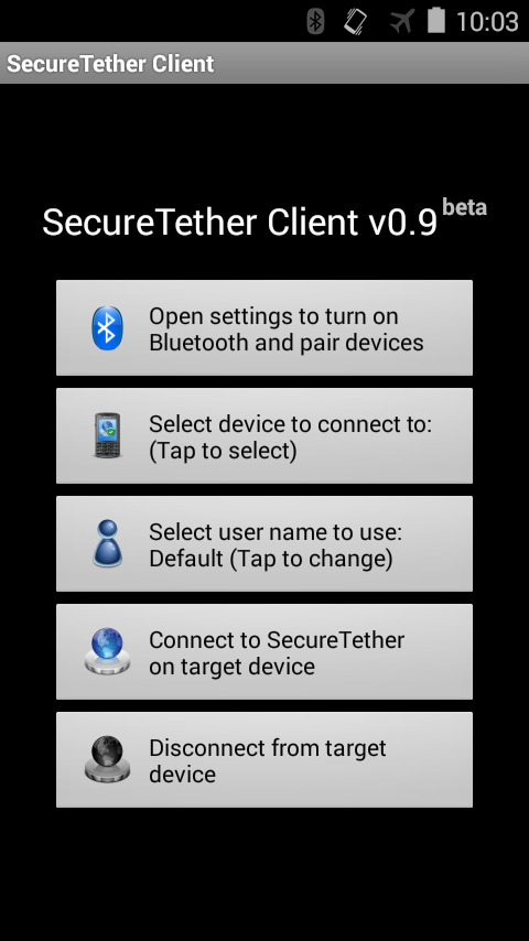SecureTether Client - Android Bluetooth tethering 0 9 2 APK Download