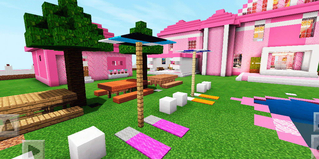 2018 Pink House of Barbie  Map for MCPE 40 mcpe map APK