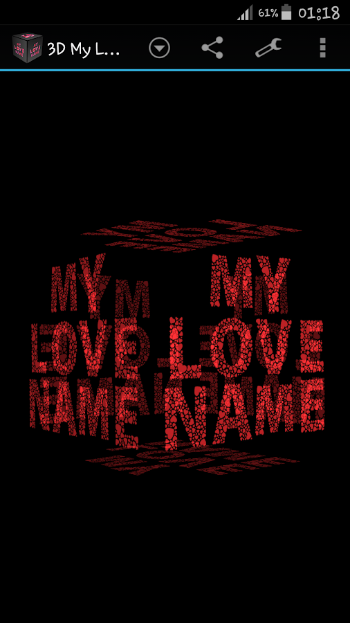 3D My Name Love Live Wallpaper 180 Screenshot 3
