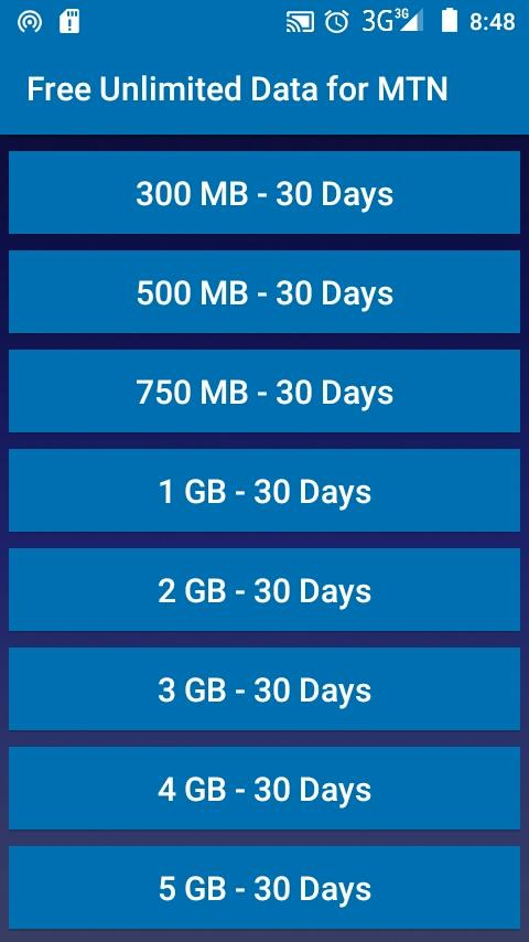 Free Unlimited Data for MTN 18 9 21 APK Download - Android