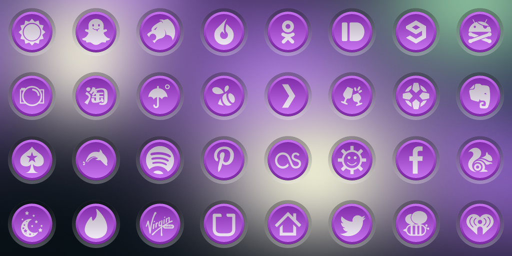 3K SR PURPLE - Icon Pack 1 15307 1 APK Download - Android