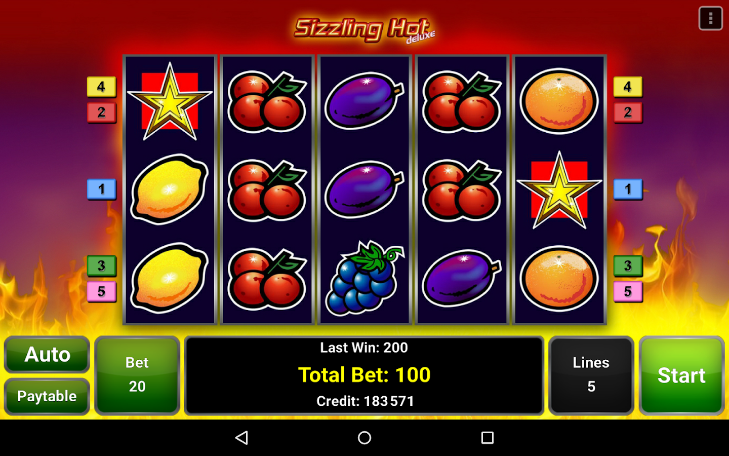 sizzling hot deluxe casino game