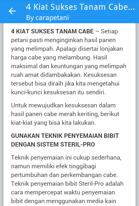 Cara Petani Info Pertanian 23 Apk Download Android Education Apps
