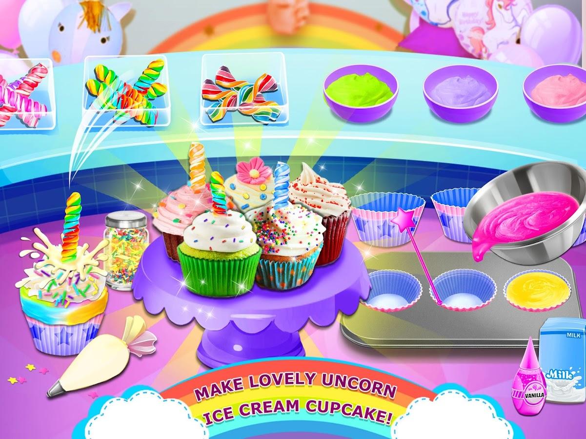 Rainbow Ice Cream Unicorn Party Food Maker 11 Apk Download Mainan Anak Frozen Pembuat Screenshot