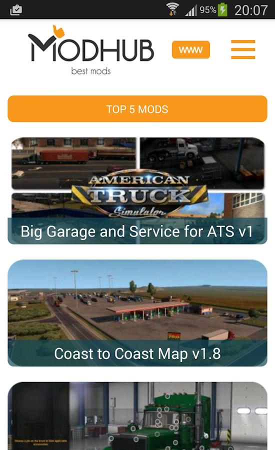 American truck simulator mods 1 0 2 APK Download - Android