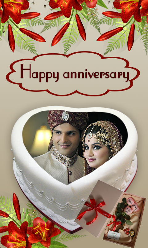 Name Photo On Anniversary Cake – Couple Frames HD 1.2 APK Download ...