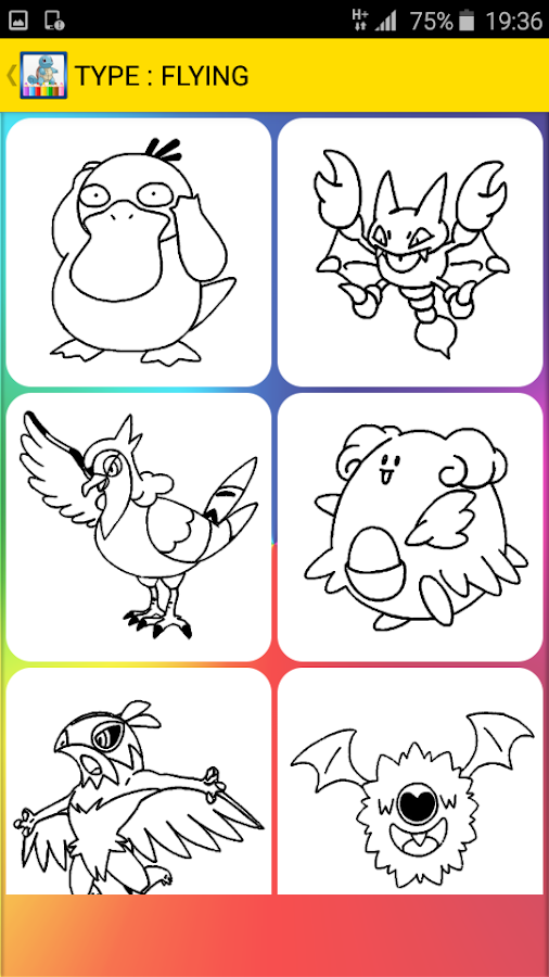 Coloring Pages For Pokem 11 Screenshot 5