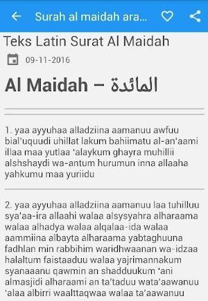 Surah Al Maidah Arab Latin 240 Apk Download Android